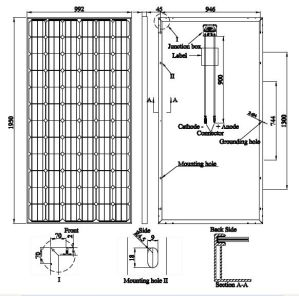 Pid Free Mono PV Solar Module 335W German Quality pictures & photos