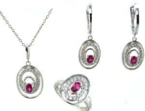 High Quality and Fashion Woman′s Jewelry 925 Silver Set (S3293) pictures & photos