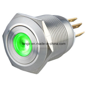 19mm DOT Illuminated Momentary 1no1nc Metal Push Button Switch pictures & photos