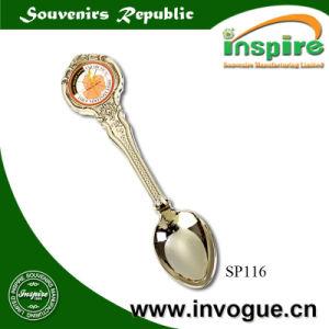 OEM Zinc Alloy Souvenir Spoon with Epoxy Sticker pictures & photos