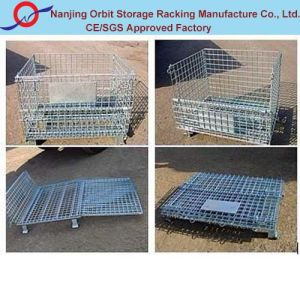 Foldable Wire Container for Rack Storage