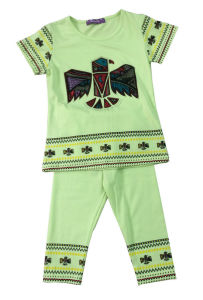 Summer Sun Flower Baby Girl Children′s Suit for Kids Clothes SGS-110 pictures & photos