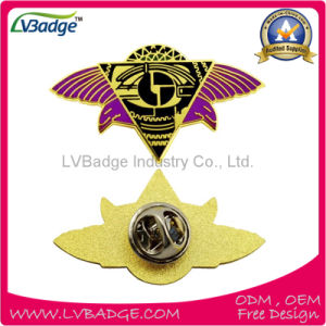 Supply High Quality Custom Metal Badge with Butterfly Clutch pictures & photos