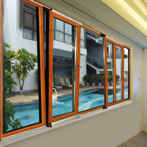 Feelingtop Aluminum Wooden Windows with Hardware Casing (FT-WW90) pictures & photos