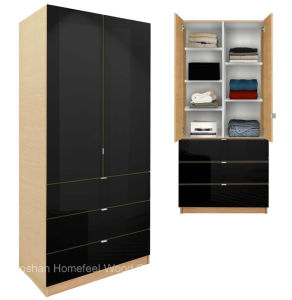 Modern Bedroom Furniture Wardrobe Cabinet with Adjustable Shelves and Drawers (HF-EY09041) pictures & photos
