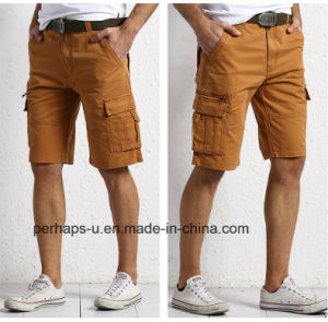 Fashion Mens Apricot Cotton Cargo Pants pictures & photos