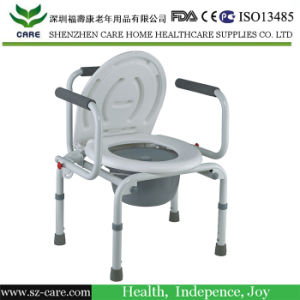 Stainless Steel Commode Chair with Footrest pictures & photos