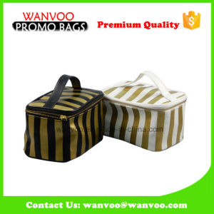 Soft PU Waterproof Toiletry Beauty Bag with Top Handle pictures & photos