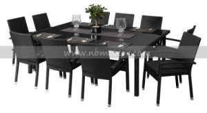 Mtc-085 10-Seater Rattan Dining Table and Chairs Set pictures & photos