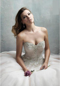2016 Dazzling Sweetheart Lace up Wedding Gown (Dream-100038) pictures & photos