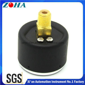Miniature Black Steel Case Brass Connector Back Connection General Pressure Gauge pictures & photos