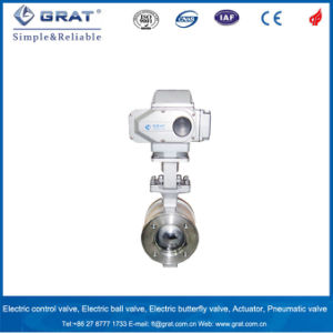 AC220V Electric Actuator Control Water Ball Valve pictures & photos