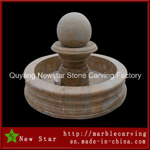 Stone Carving Sculpture Rotating Ball Fountain for Garden Decoration pictures & photos