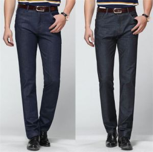 Brand Trousers 2015 Summer Men′s Business Cotton Straight Jeans pictures & photos