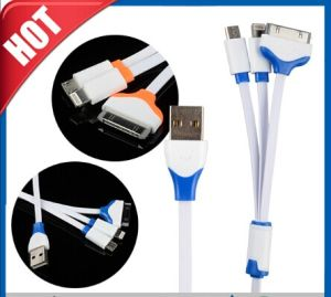 3 in 1 Multiple Adjustable USB Adapter Charging Cable pictures & photos