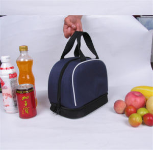 Convenient Lunch Drawstring Canvas Shopping Bag (MECO3 13) pictures & photos