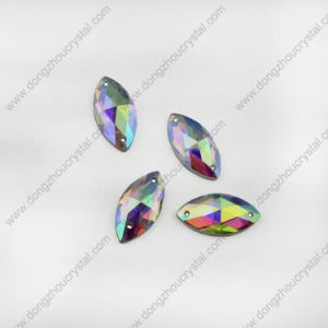 Navette Crystal Glass Jewelry Stones for Shoes Sewing pictures & photos