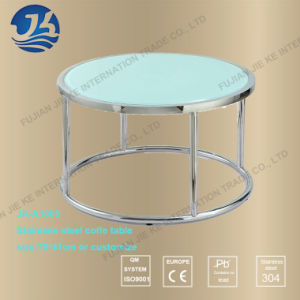 Blue Color Stainless Steel Round Coffee Table (JK A1003)