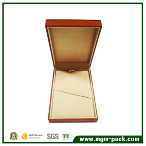 Simple Design Popular Orange Paper Wrapping Plastic Stationery Pen Box pictures & photos