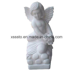 Crafted White Marble Natural Stone Sculpture Child Angle pictures & photos