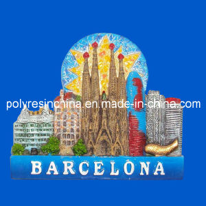 Barcelona Fridge Magnet of Polyresin Souvenirs pictures & photos