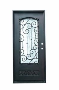 Uid-S015 Flat Top Artistic Design Entrance Single Door pictures & photos