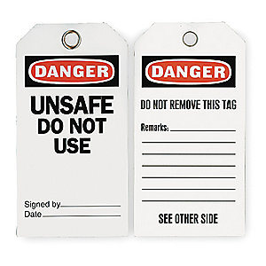 PVC Danger Label with Eyelet (2RMW9)