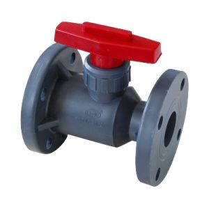 Pph Flange Ball Valve with Good Quality and Cheap Price pictures & photos