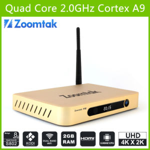 Best Quad Core Android TV Box 4k HD Media Player with Amlogics802, Support Bluetooth Dual Band WiFi Google Android TV Box pictures & photos