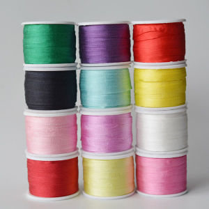100% Pure Silk Ribbon Double-Faced Thin Taffeta Silk Solid/Variegated Silk Ribbons in Various Colors, 2mm -50mm Wide Ribbons for Embroidery, Gift Packing