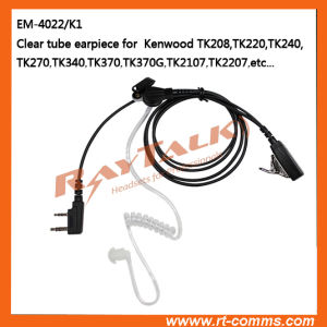 2-Wire Acoustic Clear Tube Earpiece / Transparent Tube Headset for Tk3000, Tk3101 pictures & photos