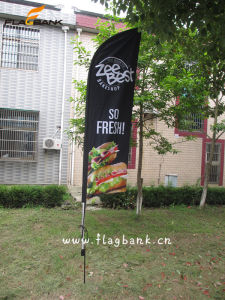 2.8m Outdoor Aluminium Digital Printing Swooper Flag/Flying Banner pictures & photos