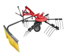 3-Point Linkage Hay Rake and Tedder Machine Fitted on Tractor