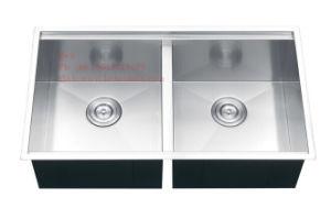 Stainless Steel Handmade Kitchen Sink, Handmade Sink, Stainless Steel Handmade Double Bowl Sink pictures & photos