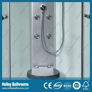 New Design Multifunctional Shower Cabin with Double Roller Wheel and Mirror (SR111W) pictures & photos