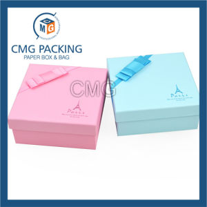 Custom Logo Printed White Paper Jewelry Gift Box Packaging (CMG-PJB-068) pictures & photos