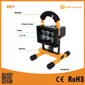 H01 Flood Light 10W Rechargeable Portable LED Outdoor Light pictures & photos