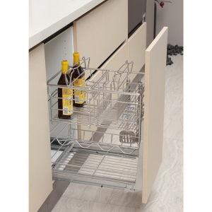 Oppein Modern Grey Beige Melamine Wood Kitchen Furniture (OP14-075) pictures & photos