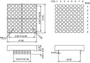 1.9 Inch 8X8 Dual Color LED DOT Matrix pictures & photos