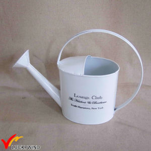 Mini White Metal Garden Metal Watering Can pictures & photos