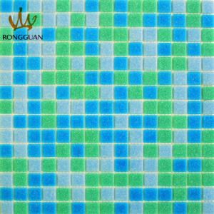 Mix Color Glass Mosaic Tile Green (MC108) pictures & photos
