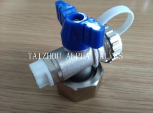Brass Ball Valve with Plastic Tape and Removed Nut (a. 8002) pictures & photos