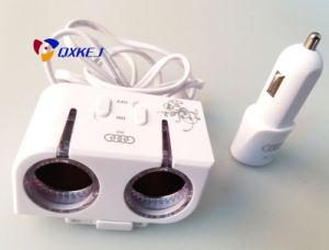 USB Car Charger Dual Cigarette Lighter Vehicle Universa Mobile Charger