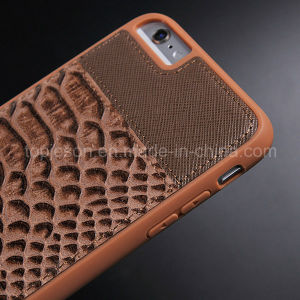 Fish-Scale Pattern Genuine Leather Case for iPhone 6 Plus pictures & photos