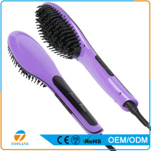 New Fashion Electric Brush Hair Straightening Auto Comb with LCD Temperature Display Us or EU Plug Choose pictures & photos