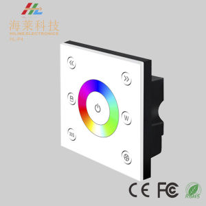 12-24V DC Fashionable Single Zone RGBW 4A*4CH LED Touch Panel Controller pictures & photos