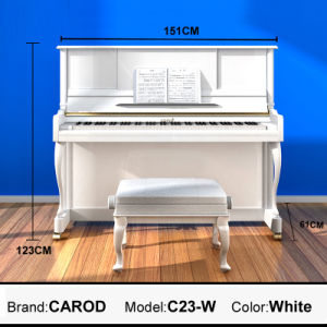 White Acoustic Upright Piano pictures & photos