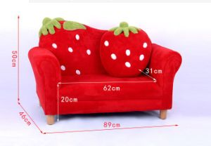 Curved Strawberry Kids Sofa Chair Baby Furniture (SF-169) pictures & photos