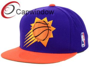 Purple/Orange Embroidery Cotton Fashion Leisure Unisex Baseball/Snapback Hat pictures & photos
