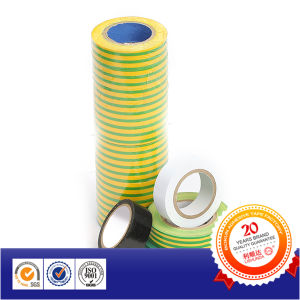 Yellow Green Colored Film 600V Flame Retardant PVC Electrical Tape pictures & photos